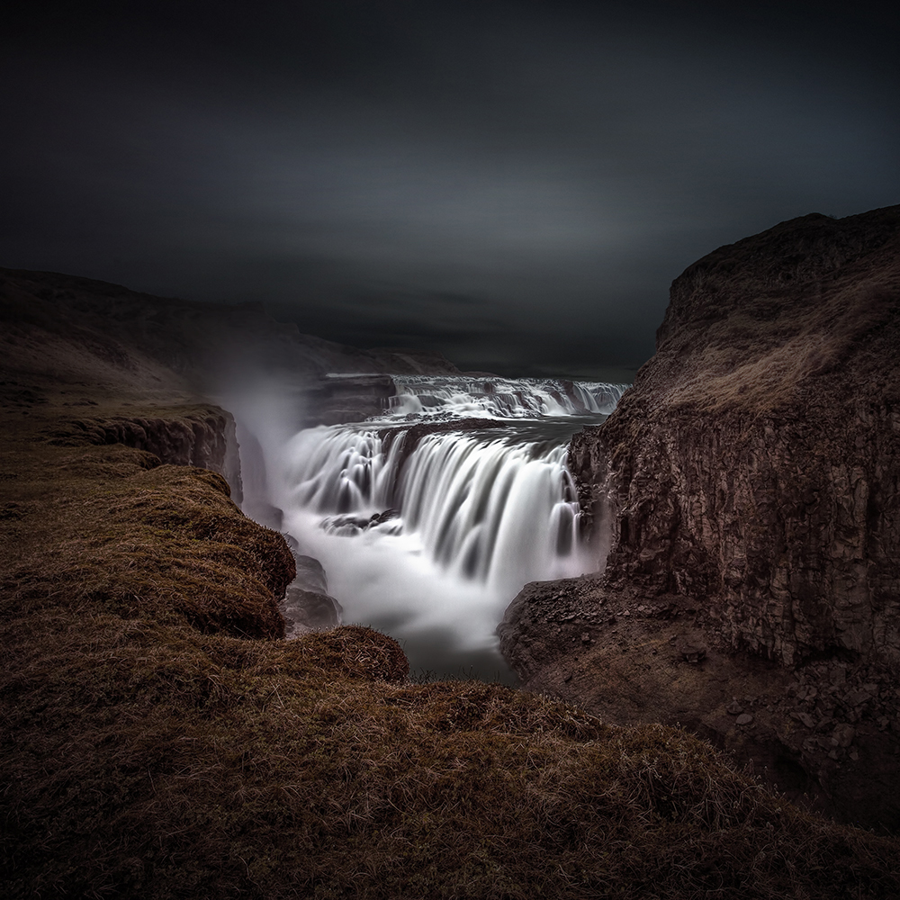 Gullfoss Iceland (colour Version)